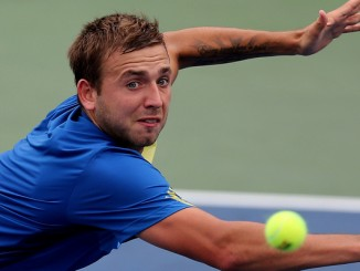 Tennis - US Open - Flushing Meadows, New York City, United States of America - 26/8/13 Men's Singles - Great Britain's Dan Evans in action during his first round match Mandatory Credit: Action Images / Carl Recine Livepic EDITORIAL USE ONLY.