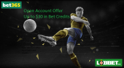 Bet365 … Open Account Offer Up to $30 in Bet Credits
